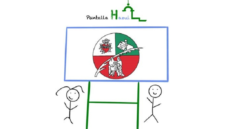 Proyecto solidario Pantalla Hazul en el Colegio San Hermenegildo
